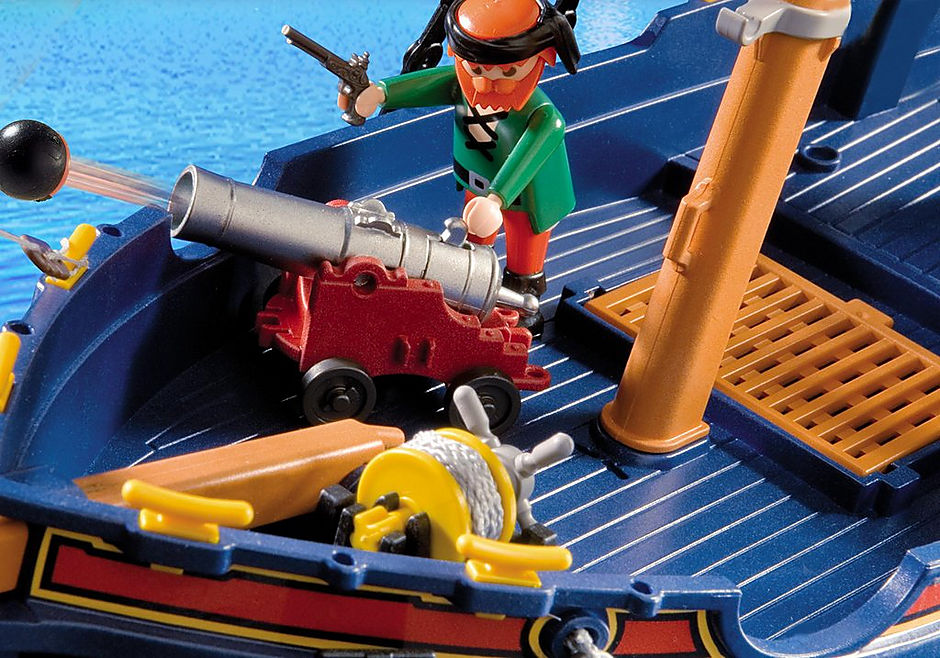 5810 Blauwbaard piratenschip detail image 4