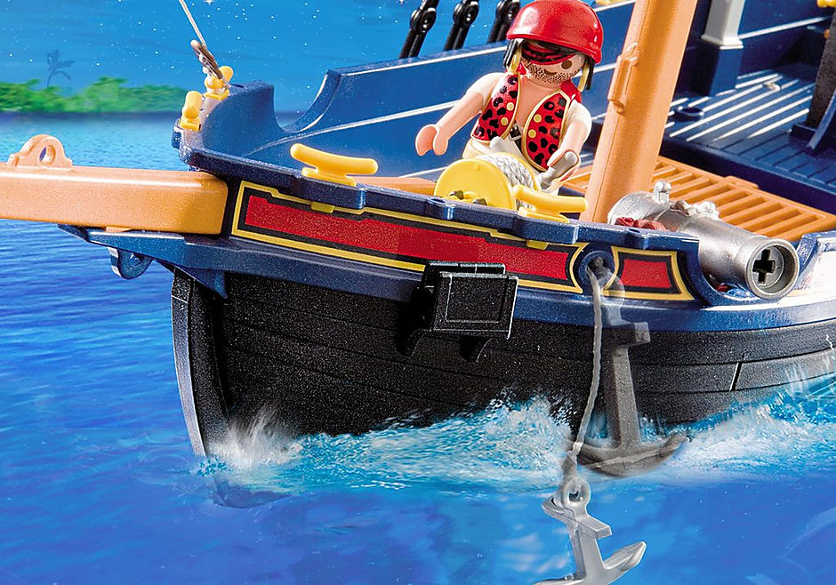 5810 Blauwbaard piratenschip detail image 7
