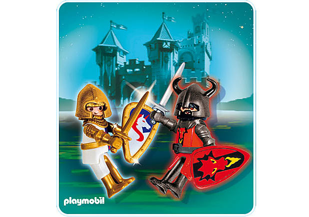 5815-A PLAYMOBIL Duo Chevalier Dragon rouge et Chevalier Licorne detail image 1