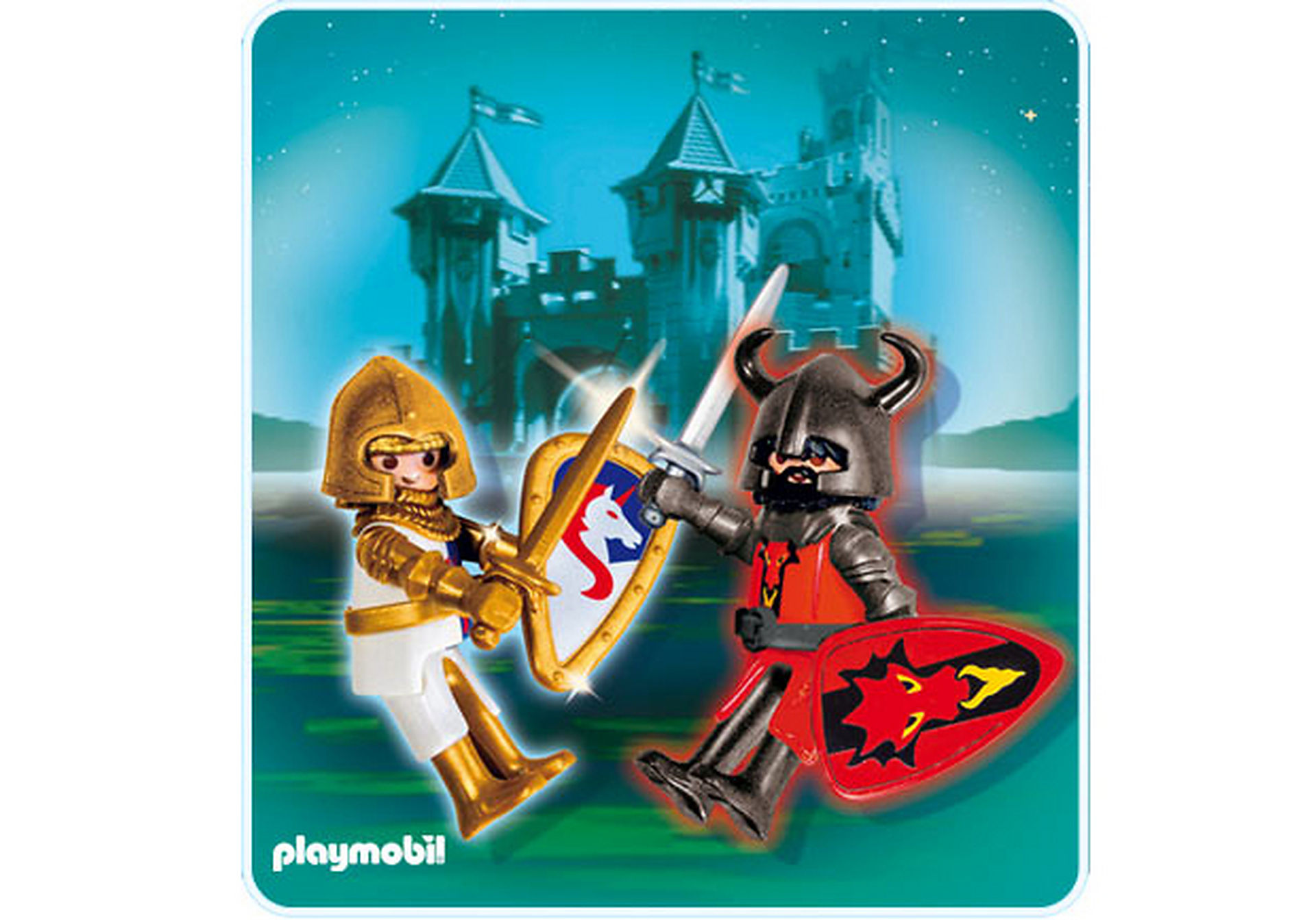 5815-A PLAYMOBIL Duo Chevalier Dragon rouge et Chevalier Licorne zoom image1