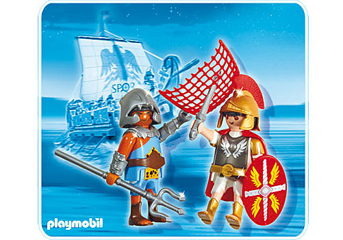 5817-A PLAYMOBIL Duo Tribun et gladiateur detail image 1