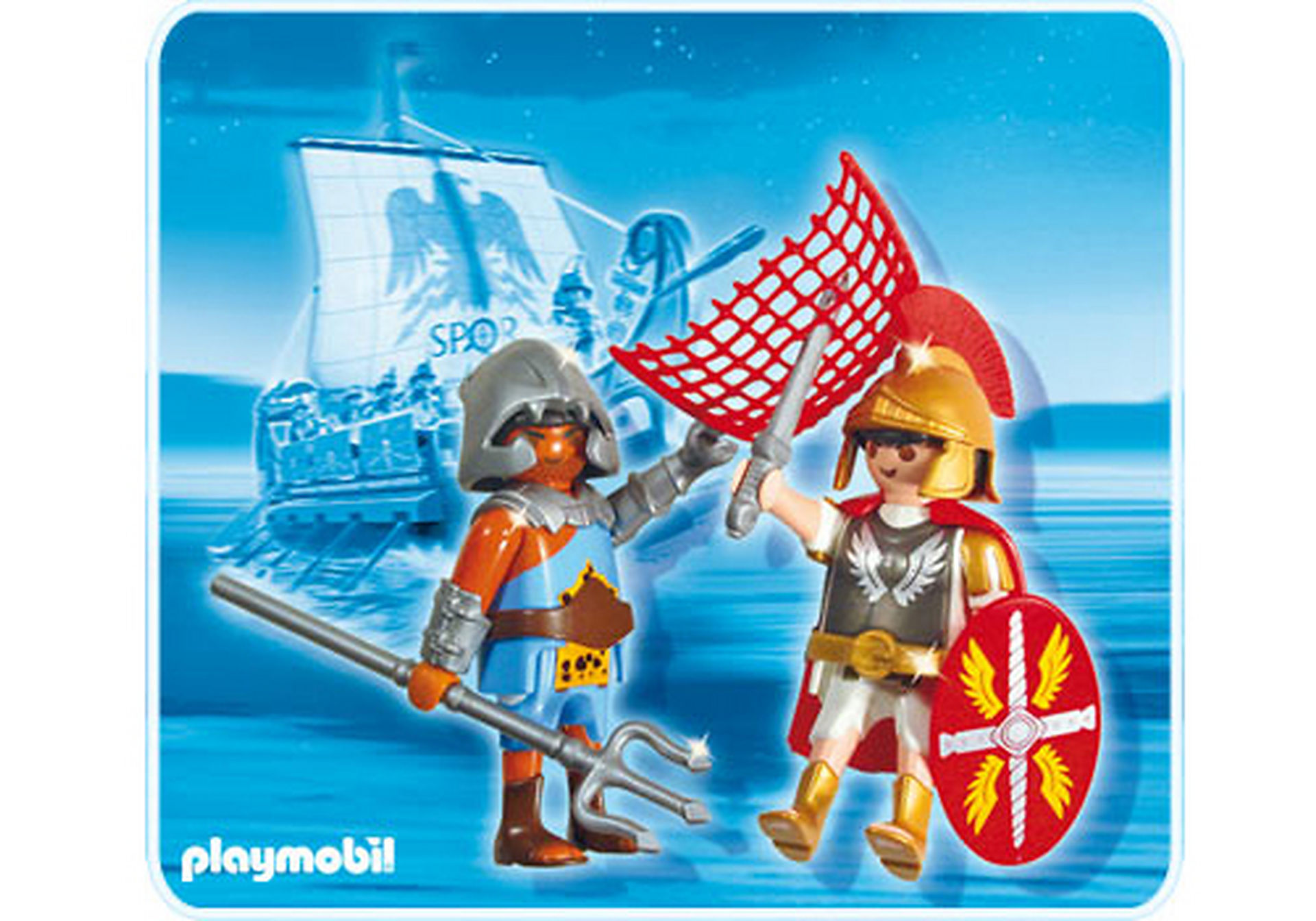 5817-A PLAYMOBIL Duo Tribun et gladiateur zoom image1