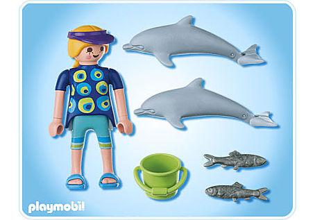 5876-A Duo-Pack Pflegerin mit Delfinjungen detail image 2