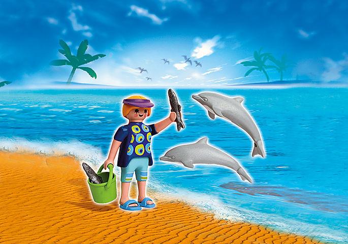 5876-A PLAYMOBIL Duo Vacancière et dauphins detail image 1