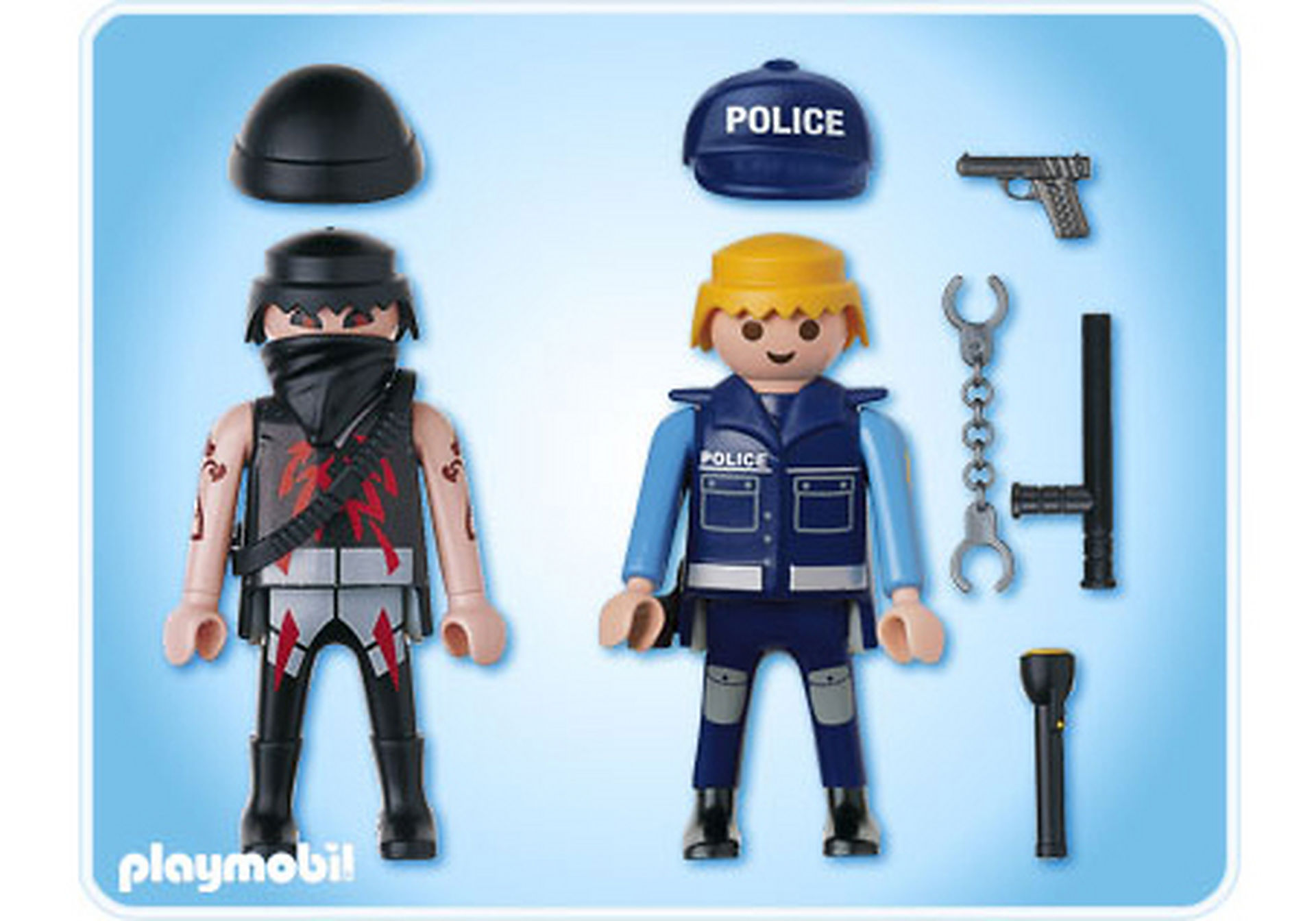 5878-A Duo-Pack Polizist mit Gangster zoom image2