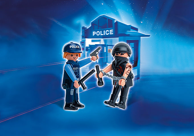 5878-A Duo-Pack Polizist mit Gangster detail image 1