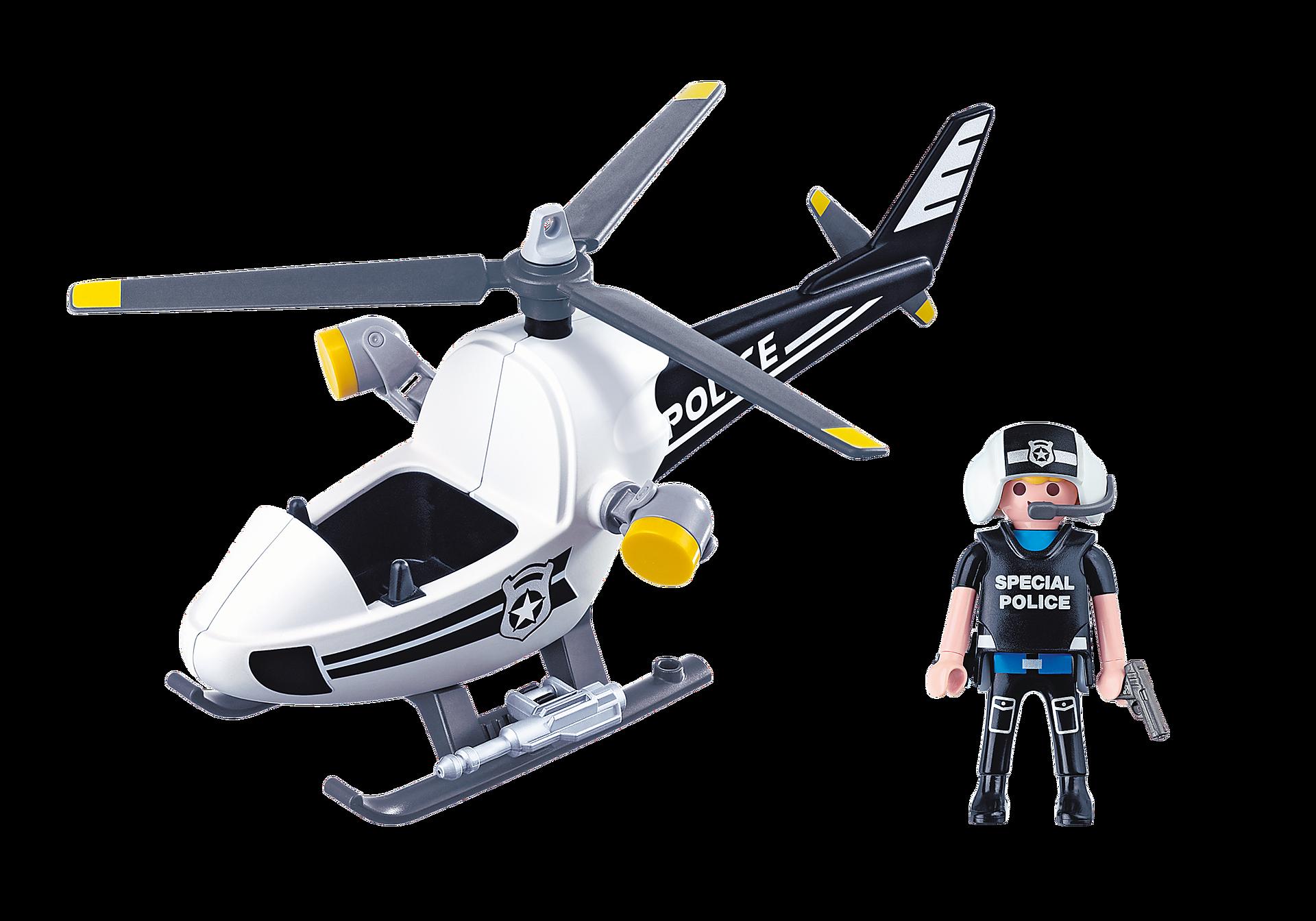 5916 Hélicoptère monoplace de police zoom image3