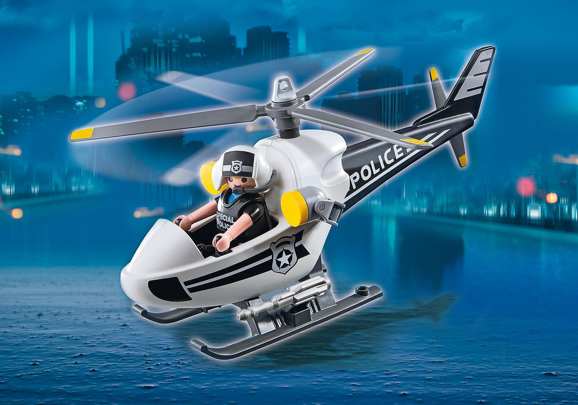 5916 Hélicoptère monoplace de police zoom image1