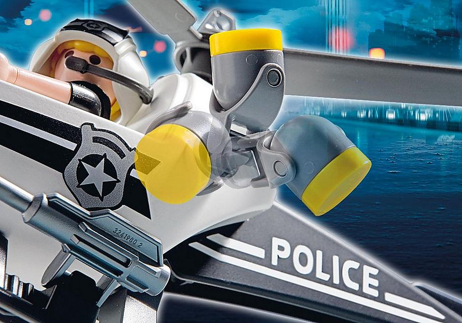 5916 Hélicoptère monoplace de police detail image 5