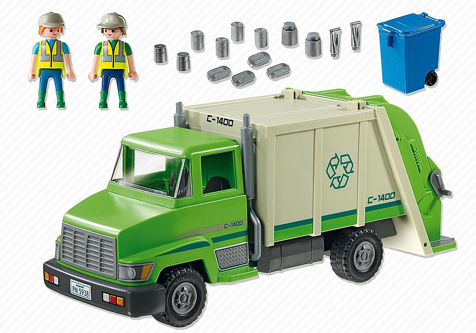 5938 Green Recycling Truck detail image 3