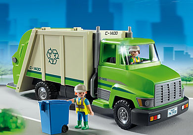 5938 Green Recycling Truck