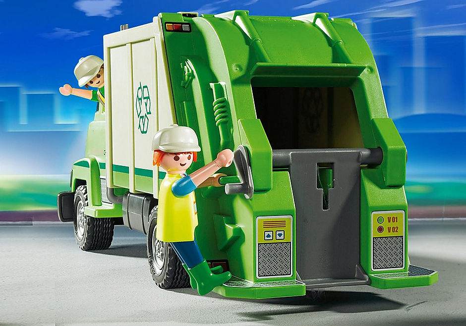 5938 Green Recycling Truck detail image 4