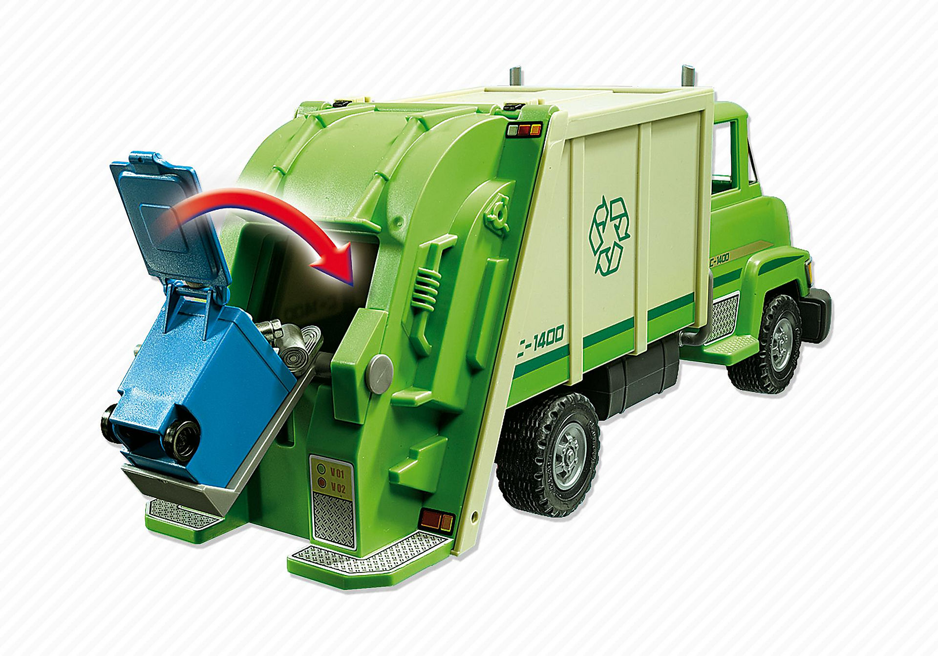 5938 Green Recycling Truck zoom image6