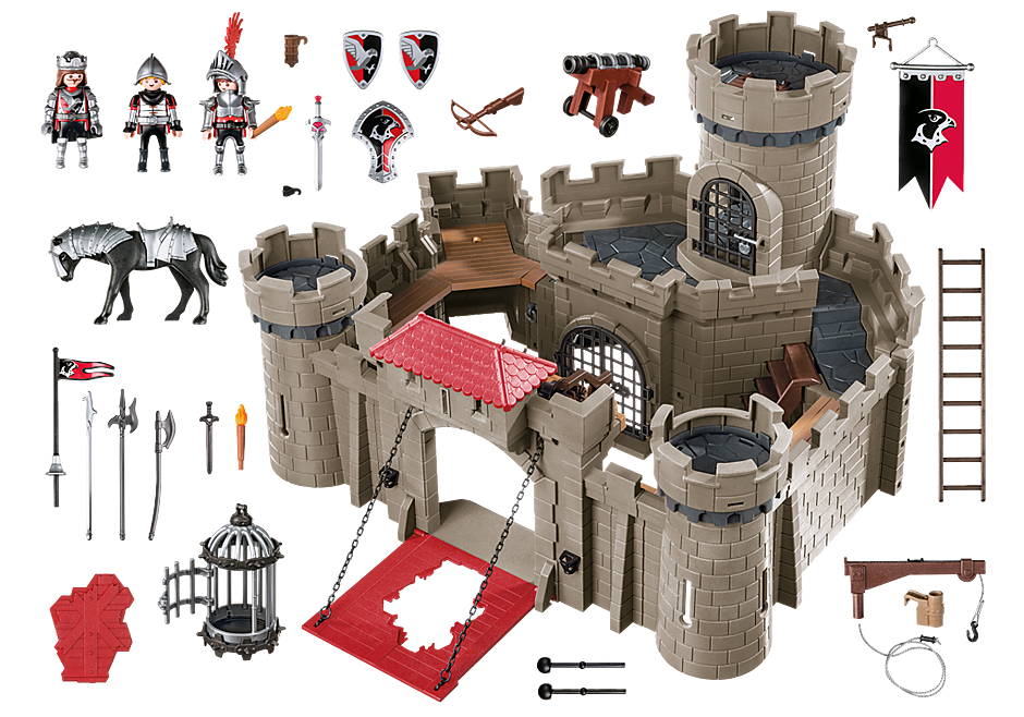 http://media.playmobil.com/i/playmobil/6001_product_box_back/Hawk Knights` Castle