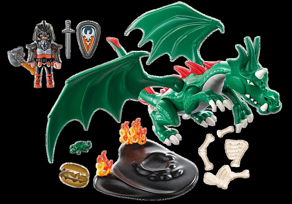 6003 Chevalier avec grand dragon vert detail image 4