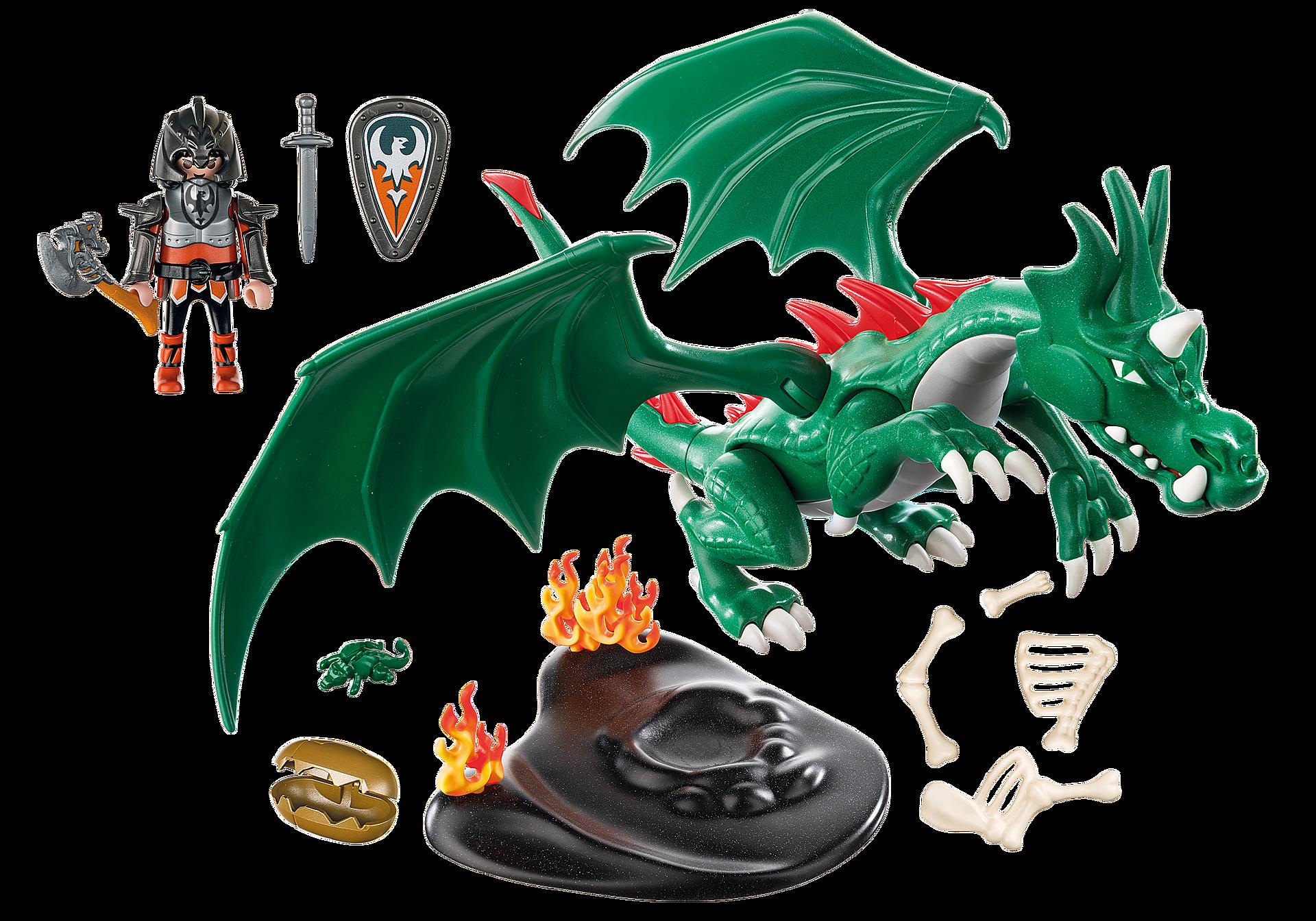6003 Chevalier avec grand dragon vert zoom image4