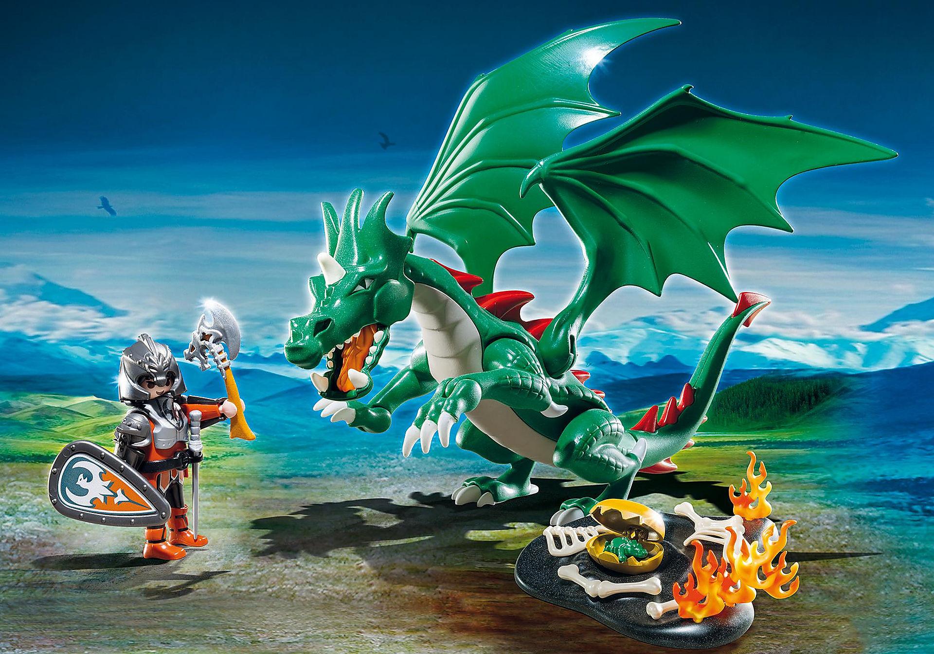 6003 Chevalier avec grand dragon vert zoom image1