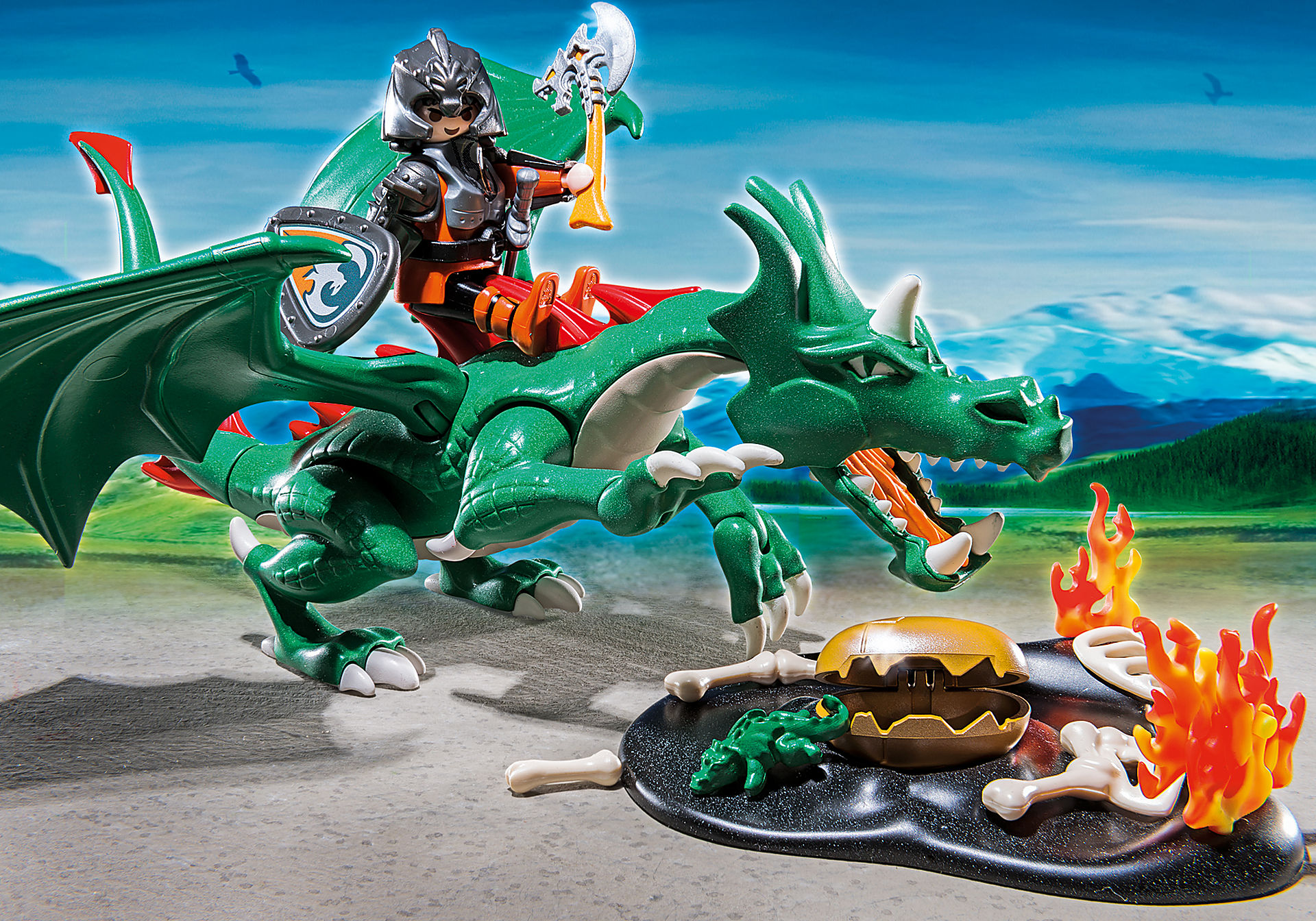 http://media.playmobil.com/i/playmobil/6003_product_extra1/Chevalier avec grand dragon vert