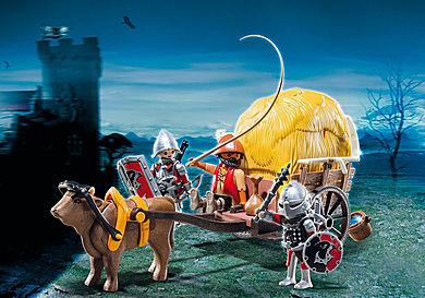 6005 Рыцари: Рыцари Сокола с камуфляжной повозкой