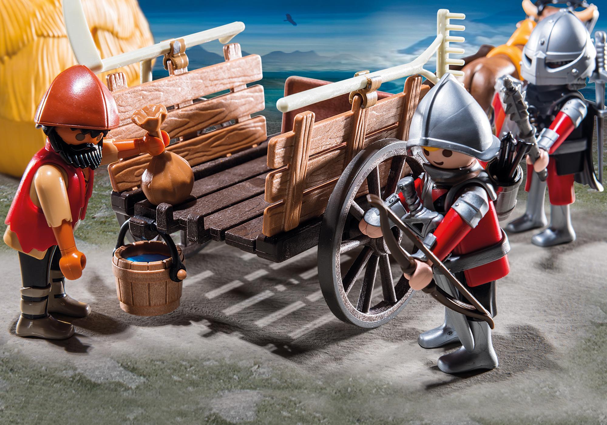 http://media.playmobil.com/i/playmobil/6005_product_extra2/Zamaskowany powóz rycerzy herbu Sokół