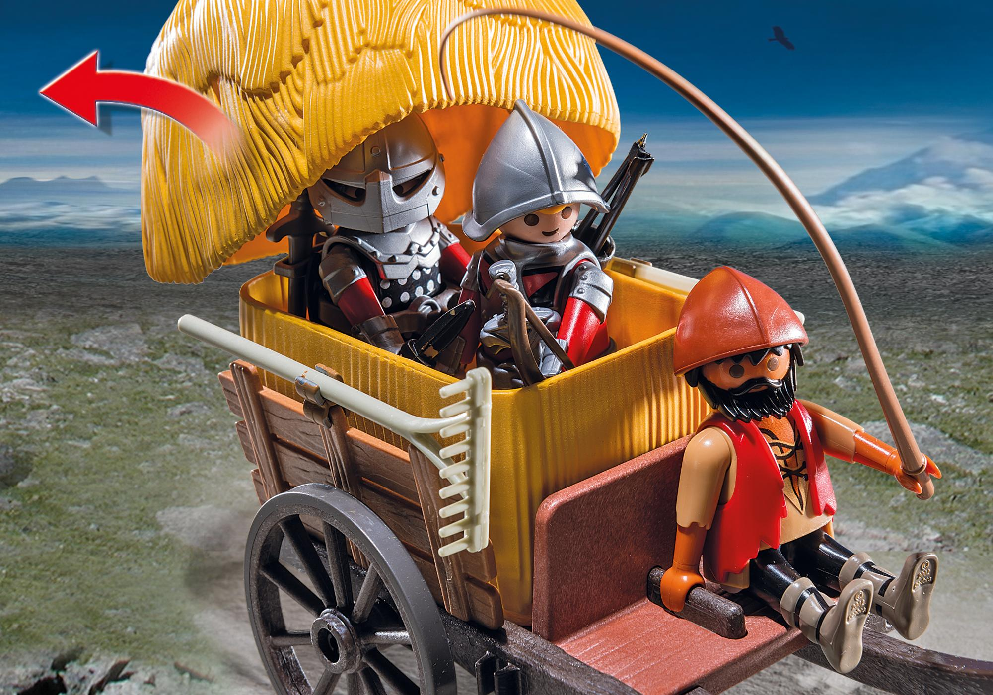 http://media.playmobil.com/i/playmobil/6005_product_extra3/Zamaskowany powóz rycerzy herbu Sokół
