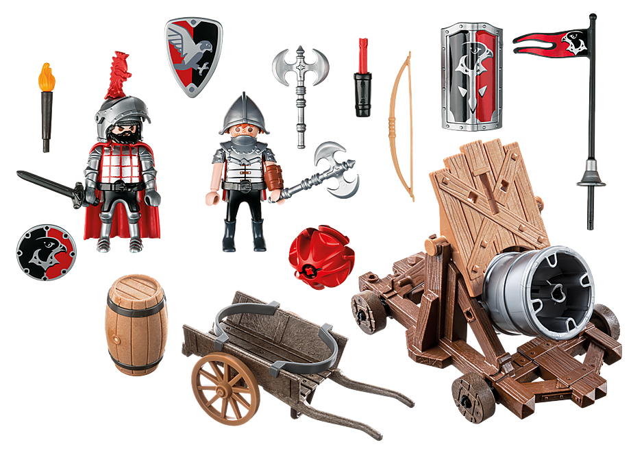 http://media.playmobil.com/i/playmobil/6038_product_box_back/Рыцари: Боевая пушка Рыцарей Сокола