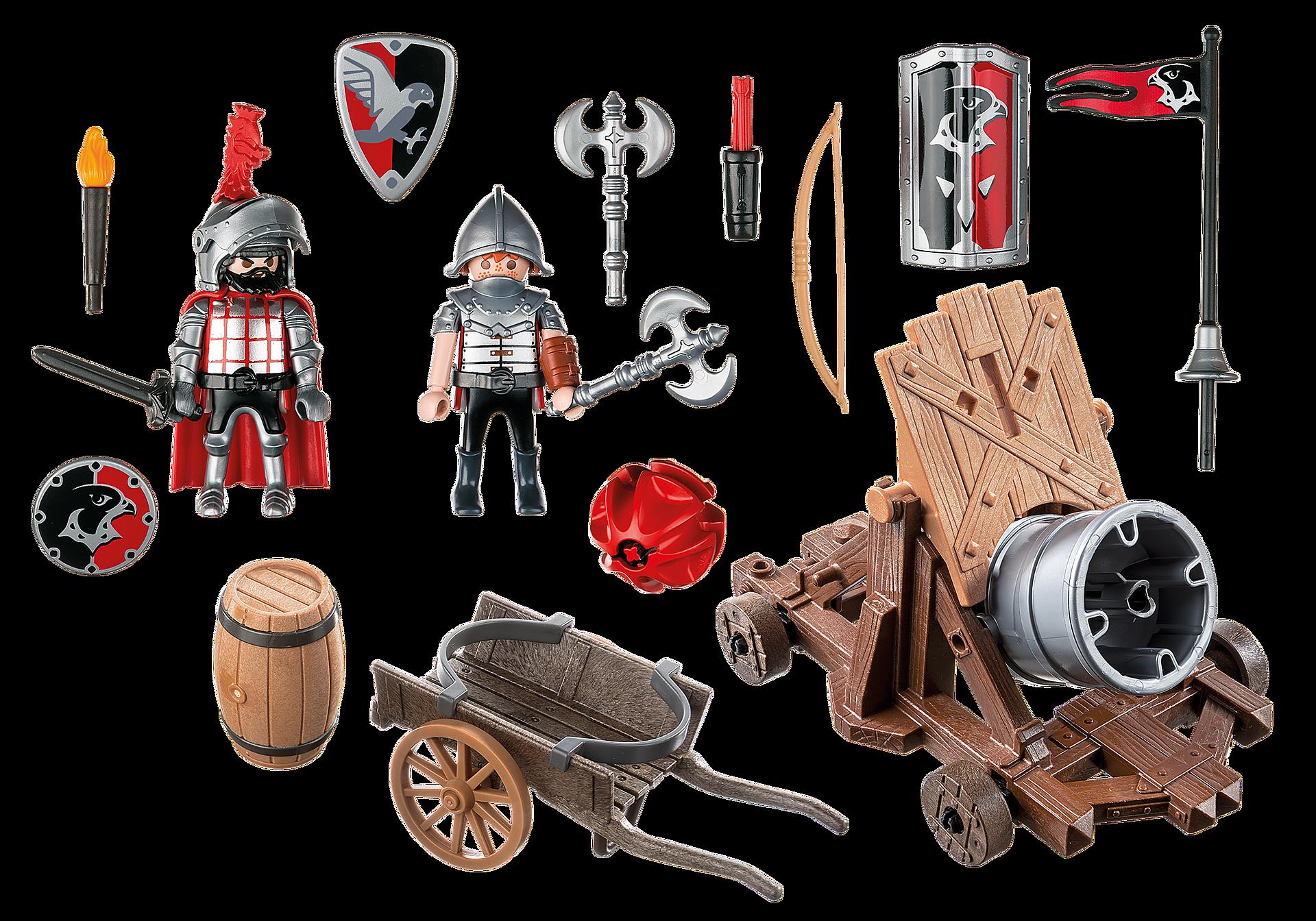 http://media.playmobil.com/i/playmobil/6038_product_box_back/Chevaliers de l`Aigle avec canon géant