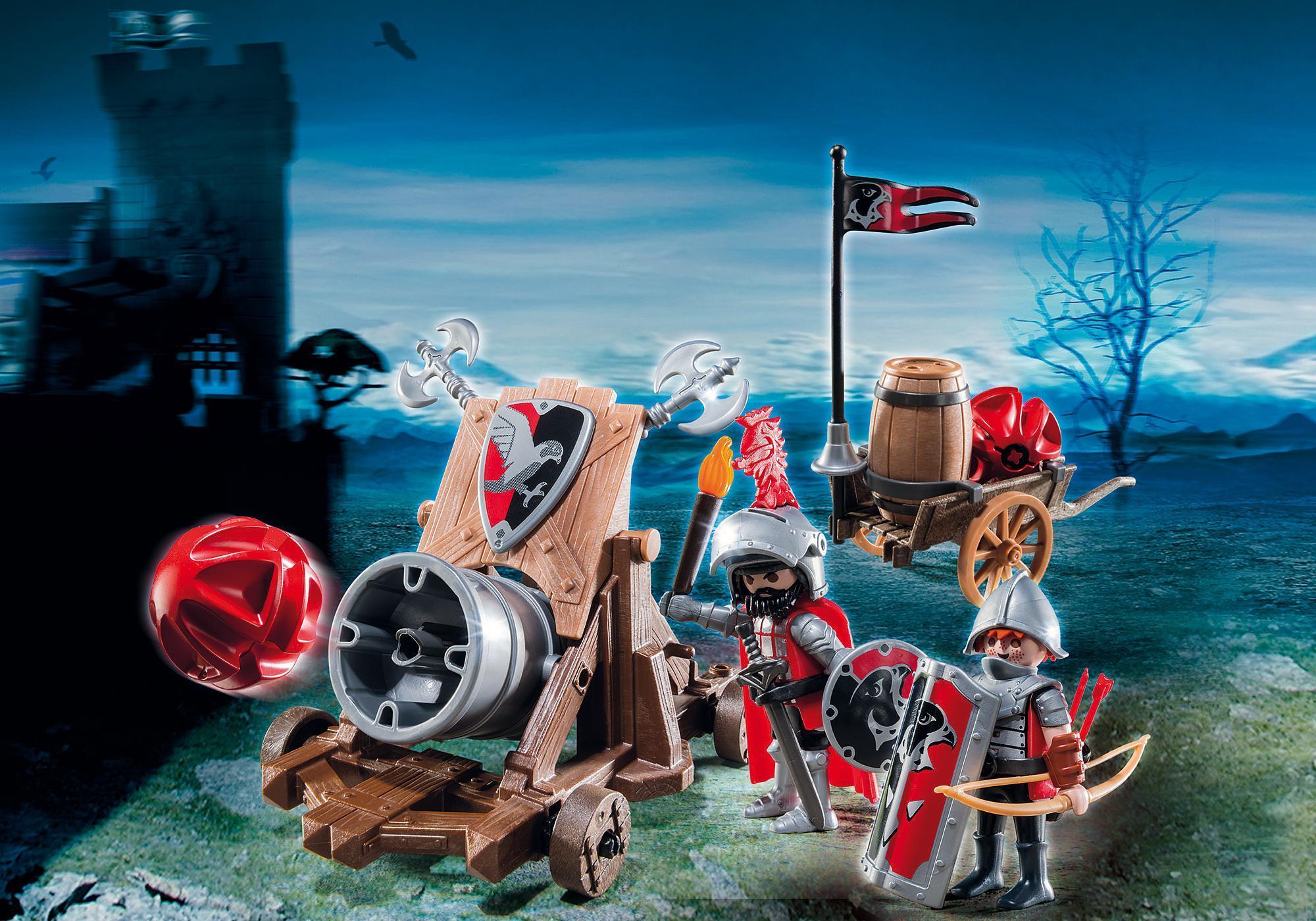 http://media.playmobil.com/i/playmobil/6038_product_detail/Рыцари: Боевая пушка Рыцарей Сокола