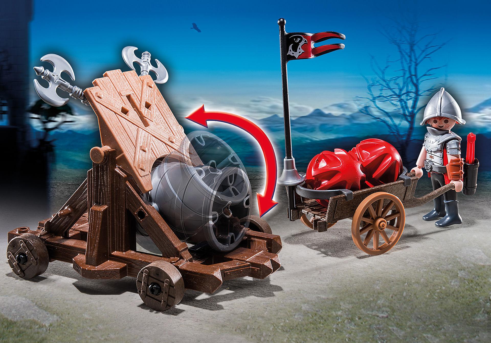 http://media.playmobil.com/i/playmobil/6038_product_extra1/Рыцари: Боевая пушка Рыцарей Сокола