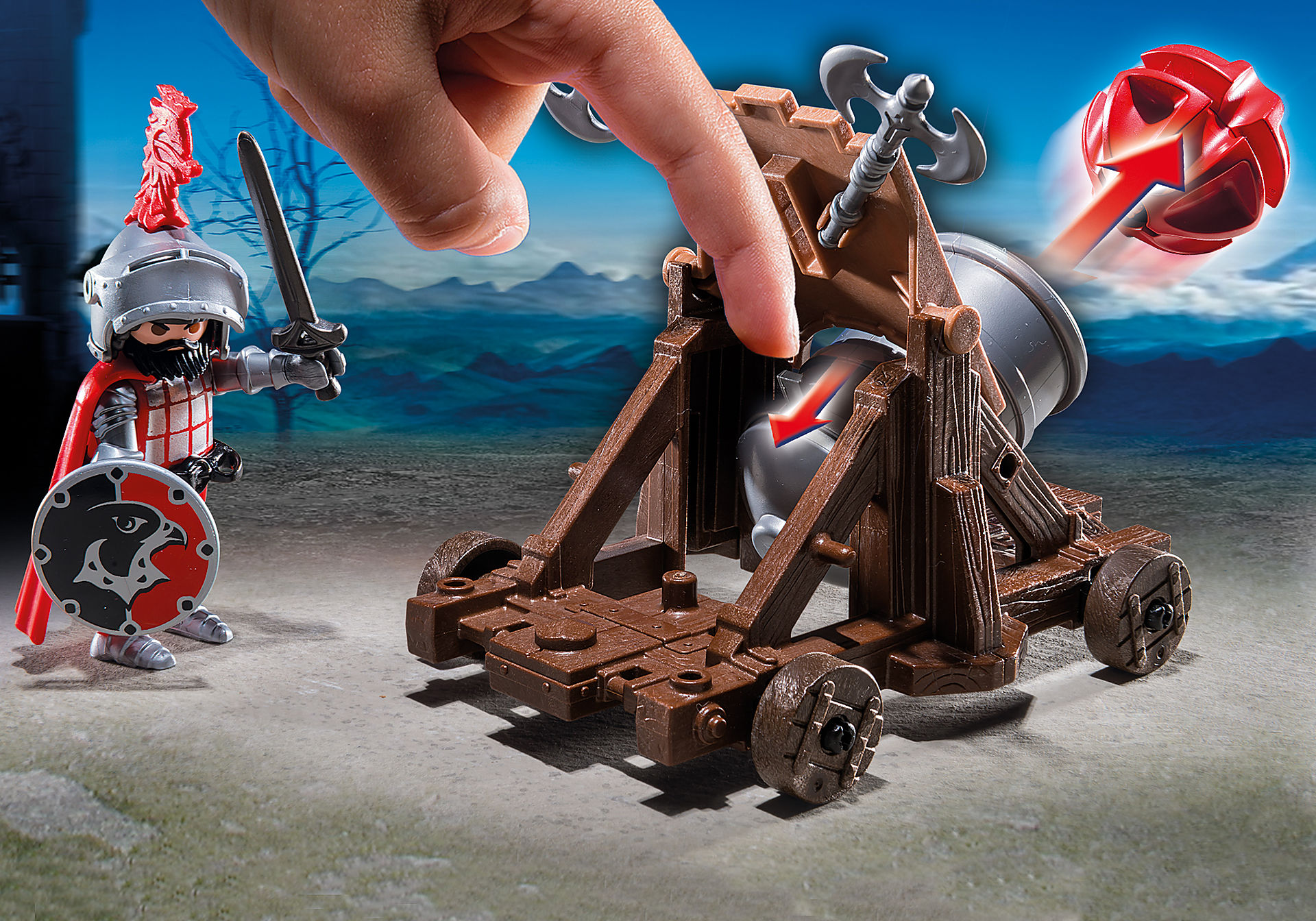http://media.playmobil.com/i/playmobil/6038_product_extra2/Рыцари: Боевая пушка Рыцарей Сокола