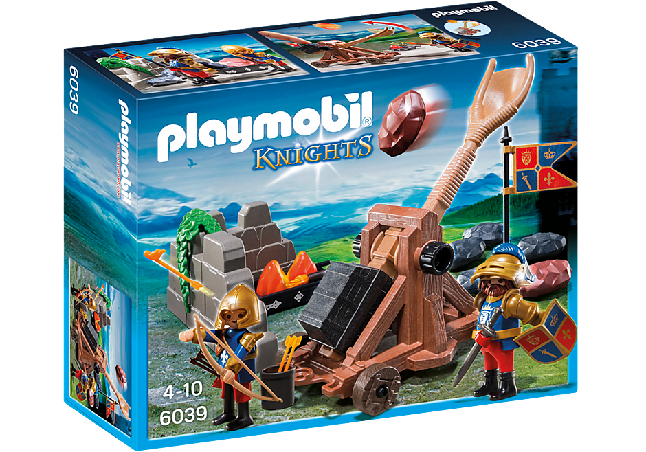 http://media.playmobil.com/i/playmobil/6039_product_box_front/Рыцари: Катапульта Рыцарей Льва