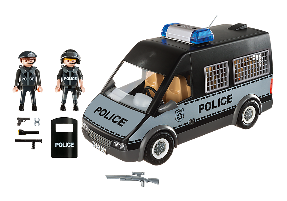 6043 Fourgon de police avec sirène et gyrophare  detail image 3