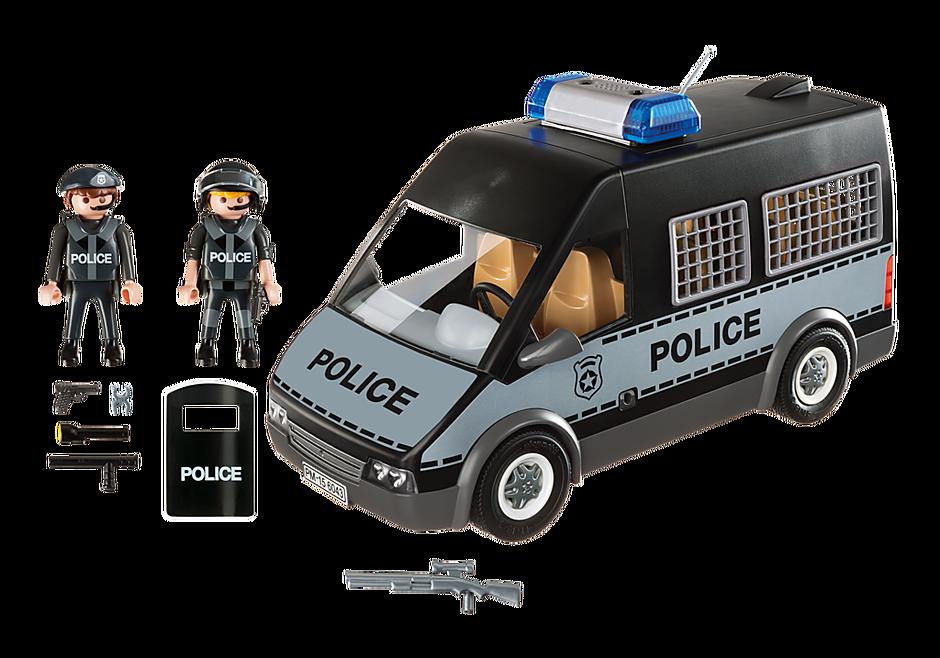 6043 Polizei-Mannschaftswagen mit Licht und Sound detail image 3