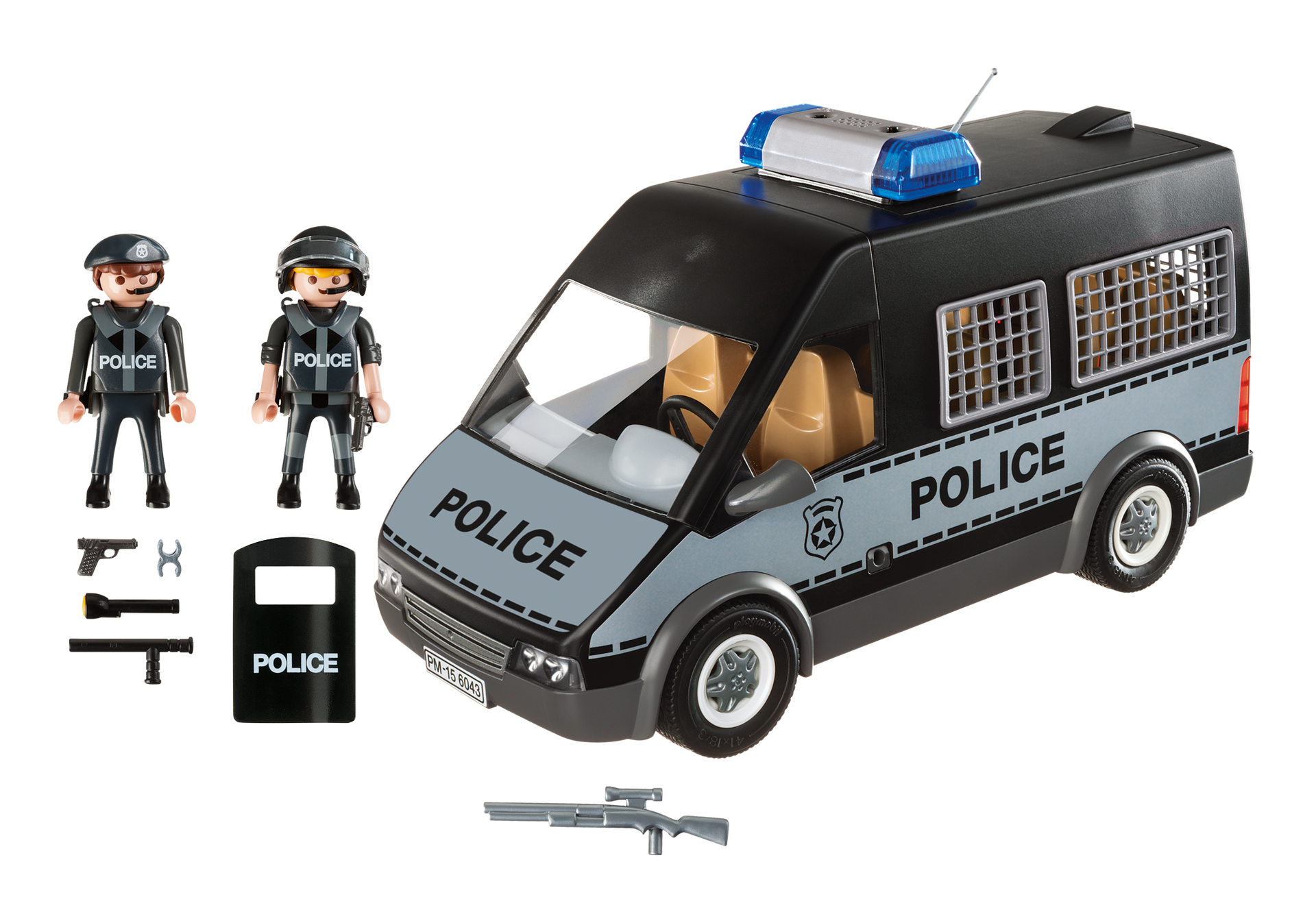 fourgon de police avec sir ne et gyrophare 6043 playmobil france. Black Bedroom Furniture Sets. Home Design Ideas