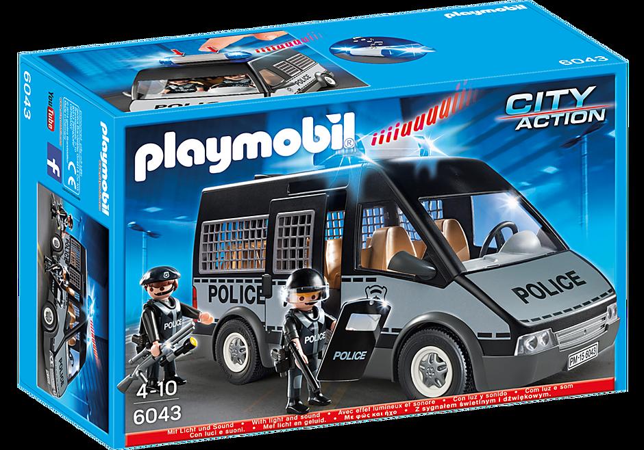 6043 Polizei-Mannschaftswagen mit Licht und Sound detail image 2