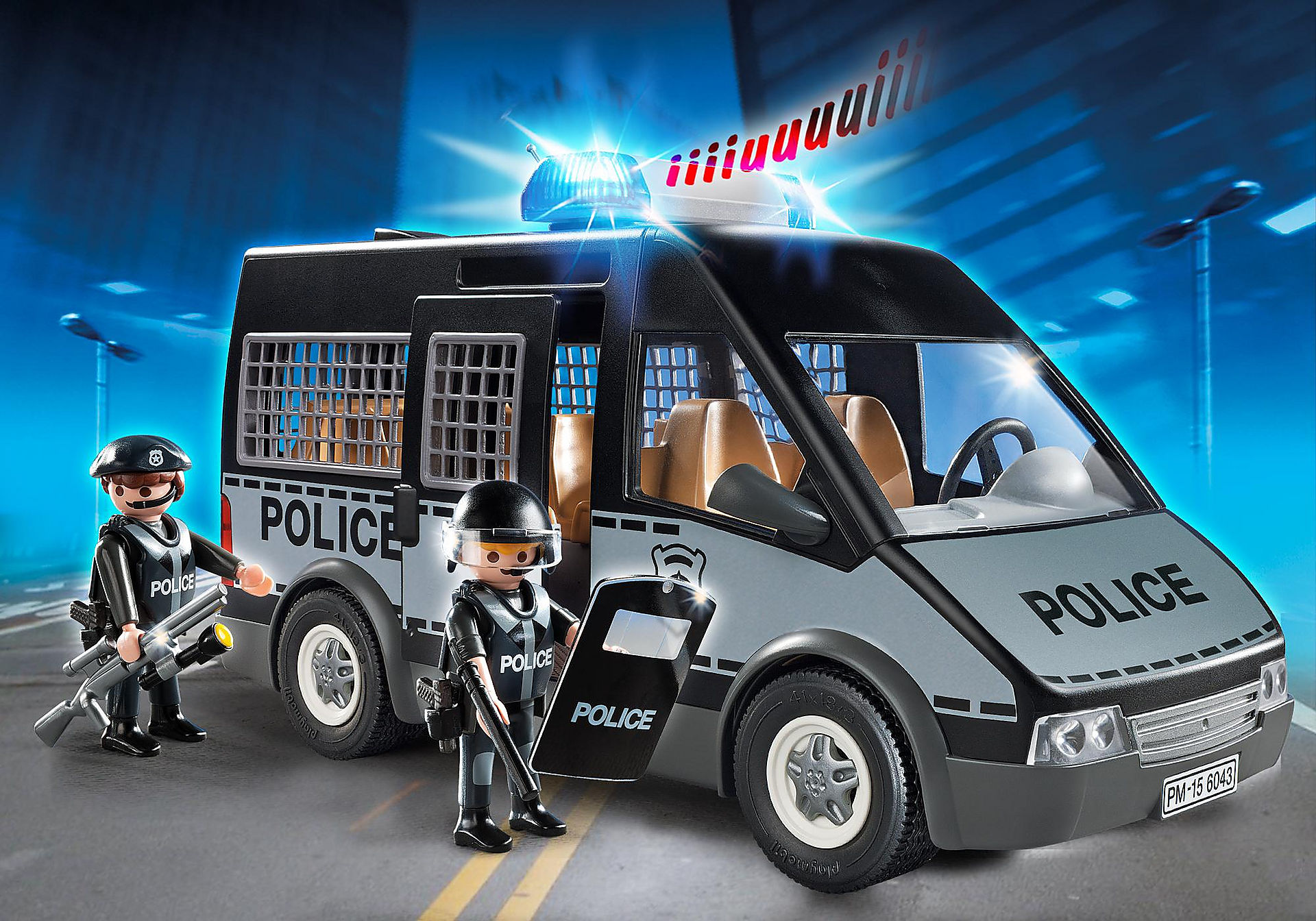 6043 Polizei-Mannschaftswagen mit Licht und Sound zoom image1
