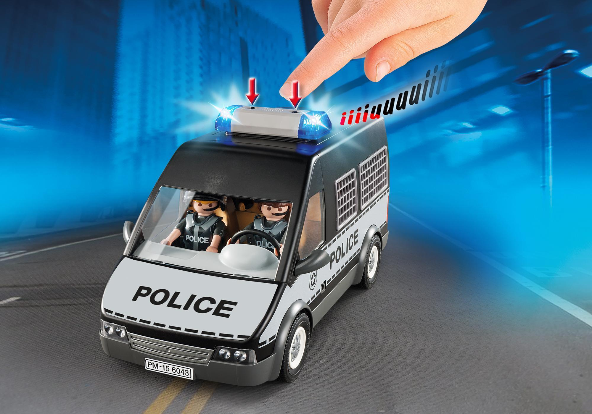 http://media.playmobil.com/i/playmobil/6043_product_extra1/Furgón de Policía con Luces y Sonido