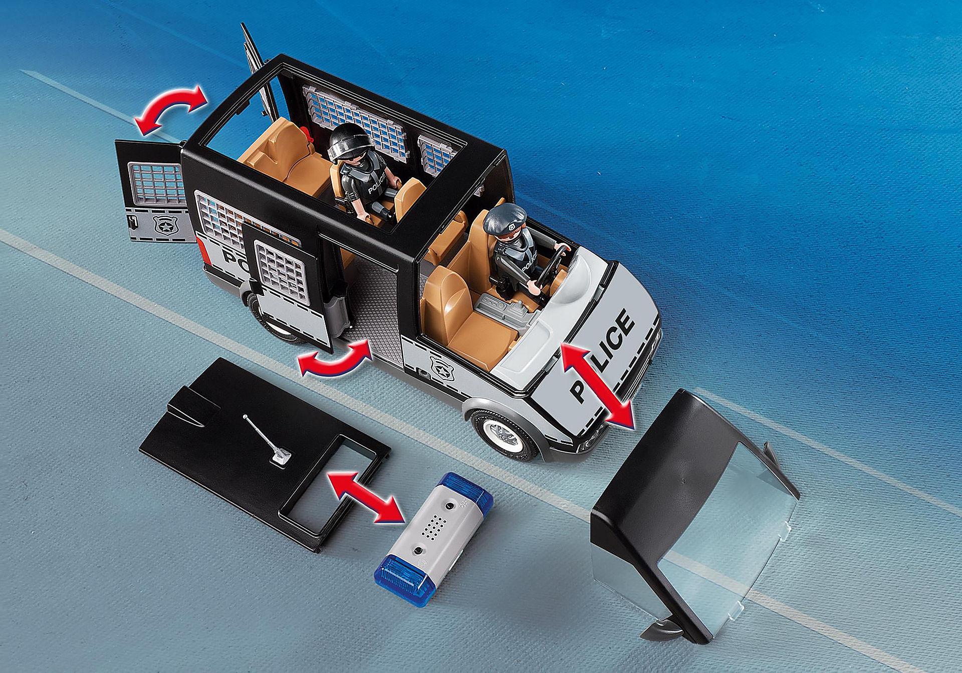 http://media.playmobil.com/i/playmobil/6043_product_extra2/Furgón de Policía con Luces y Sonido