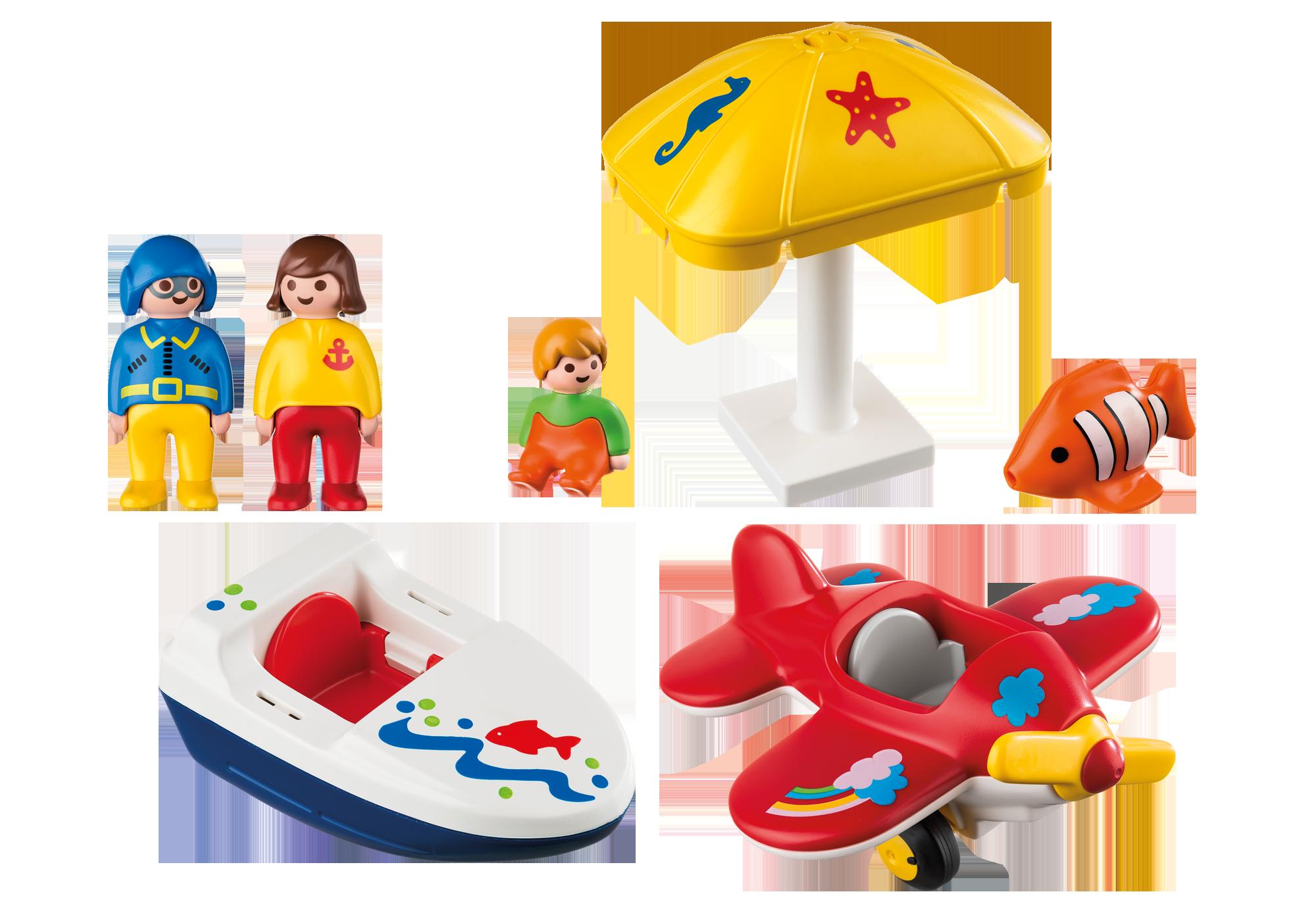 http://media.playmobil.com/i/playmobil/6050_product_box_back/Te land, ter zee en in de lucht