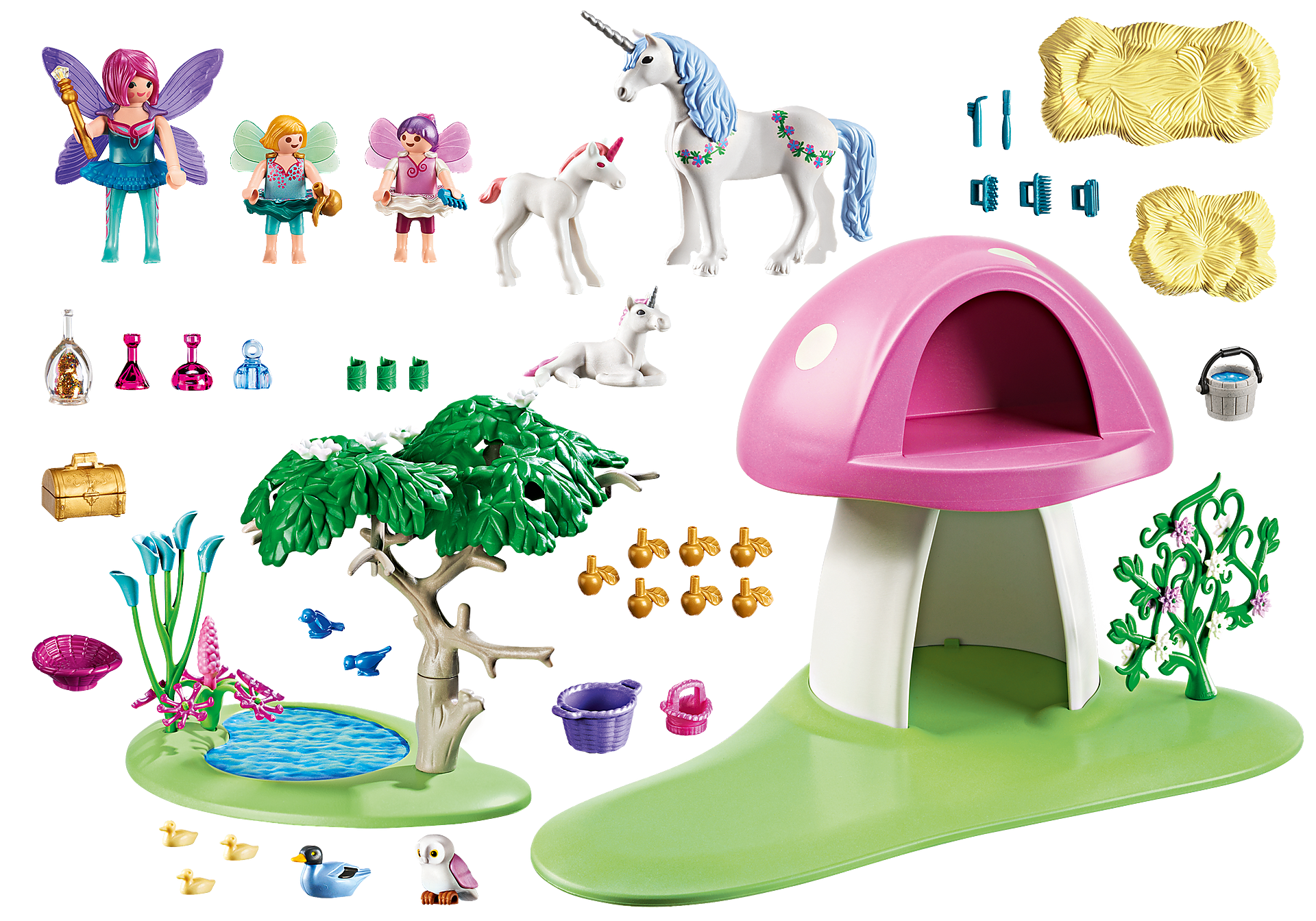 6055 Fairies with Toadstool House zoom image3