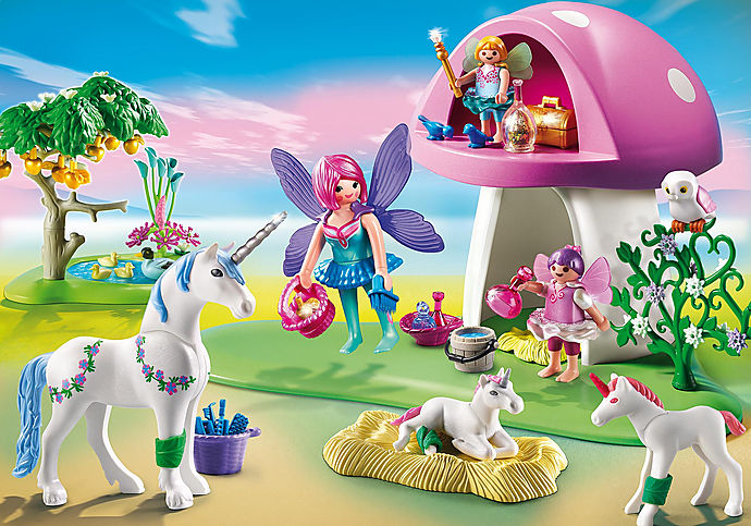 6055 Fairies with Toadstool House