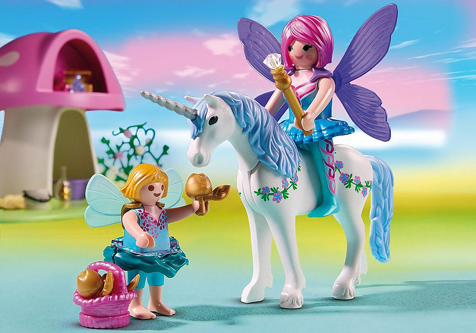 6055 Fairies with Toadstool House detail image 4