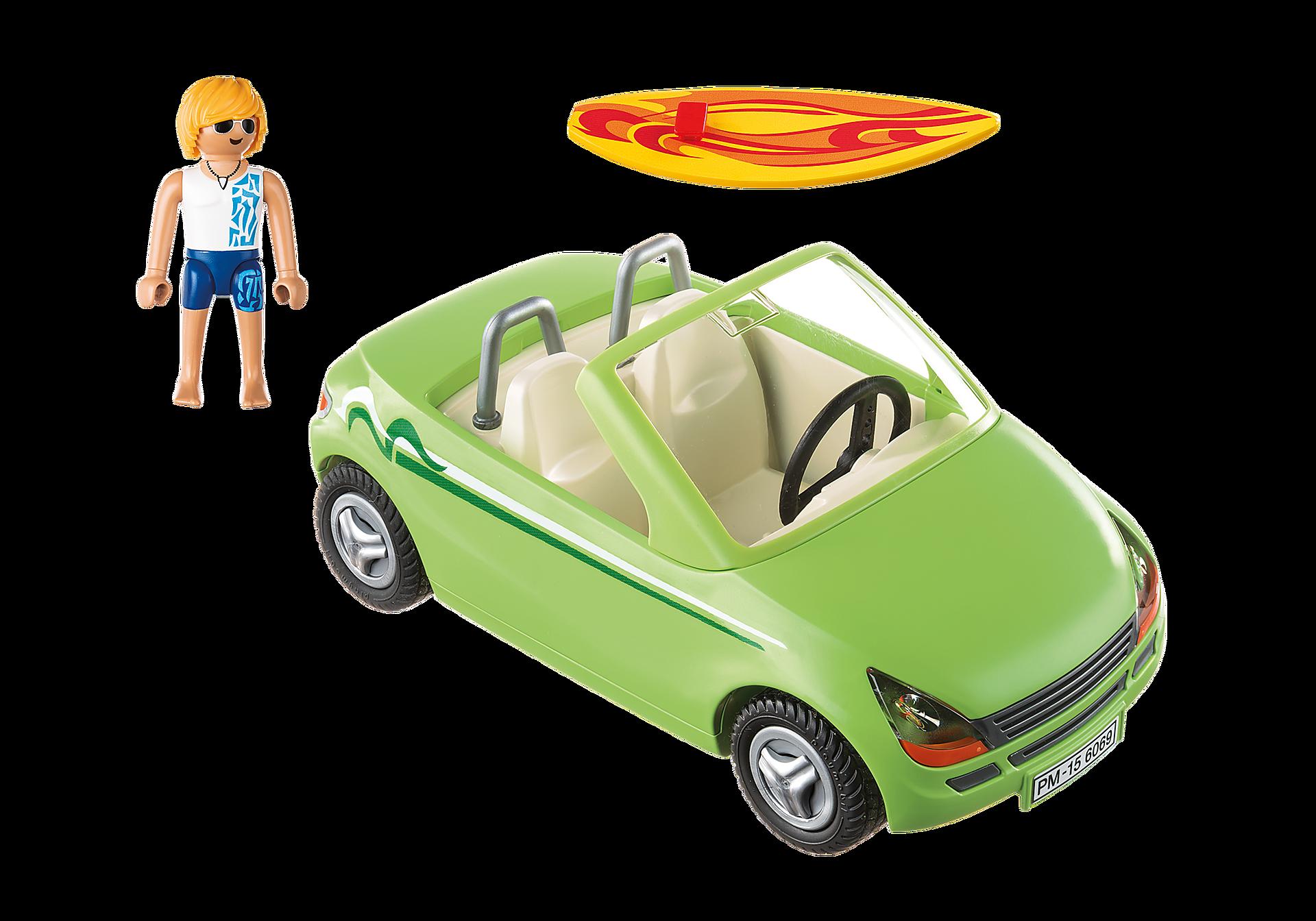 6069 Surfeur et voiture décapotable  zoom image3