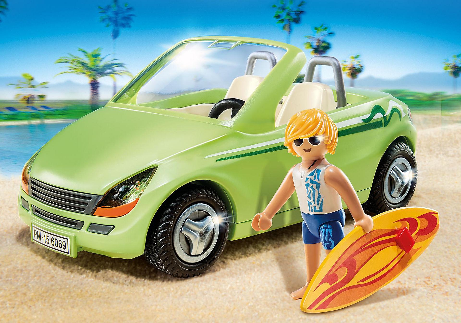 6069 Surfeur et voiture décapotable  zoom image1