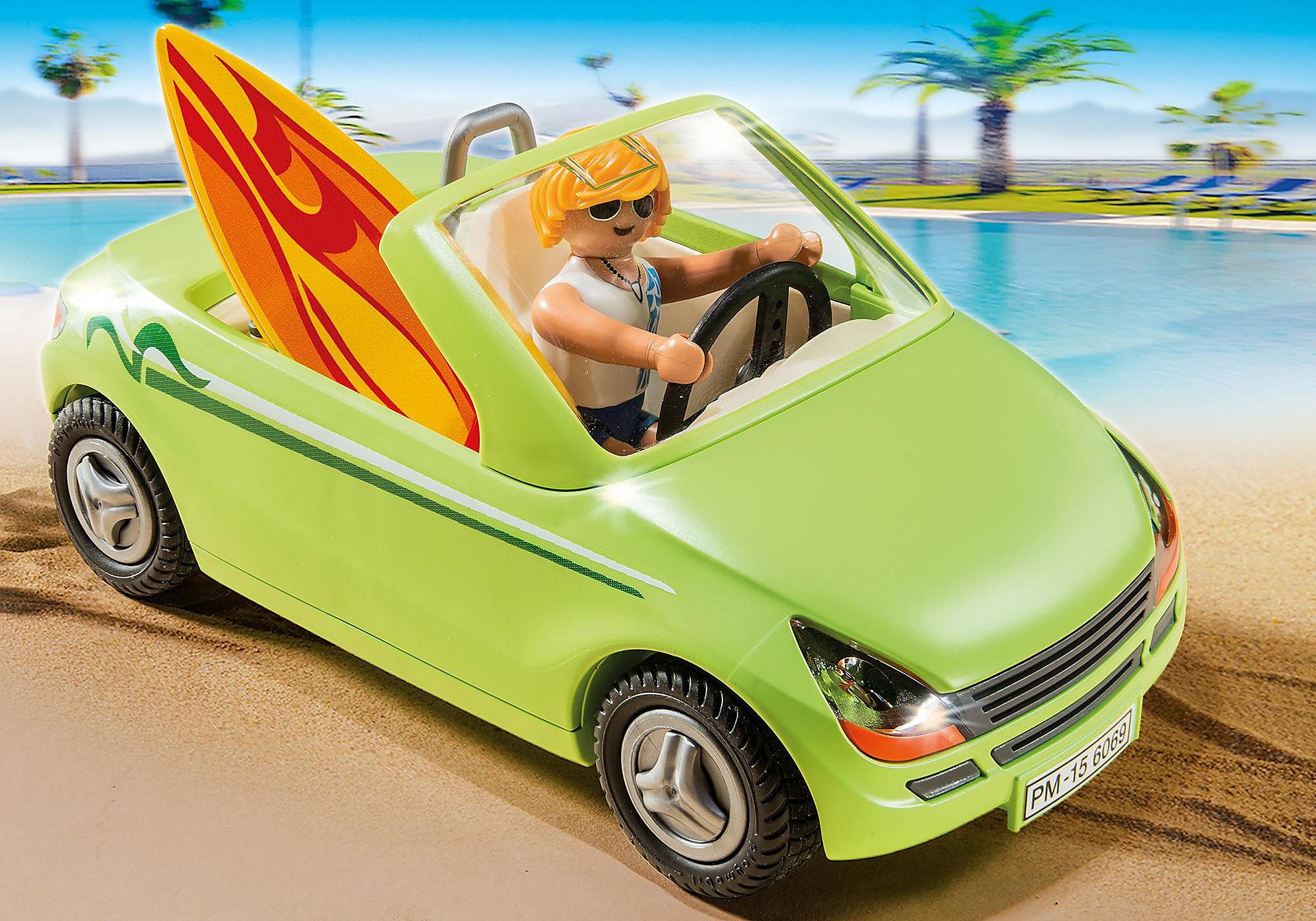6069 Surfeur et voiture décapotable  zoom image4