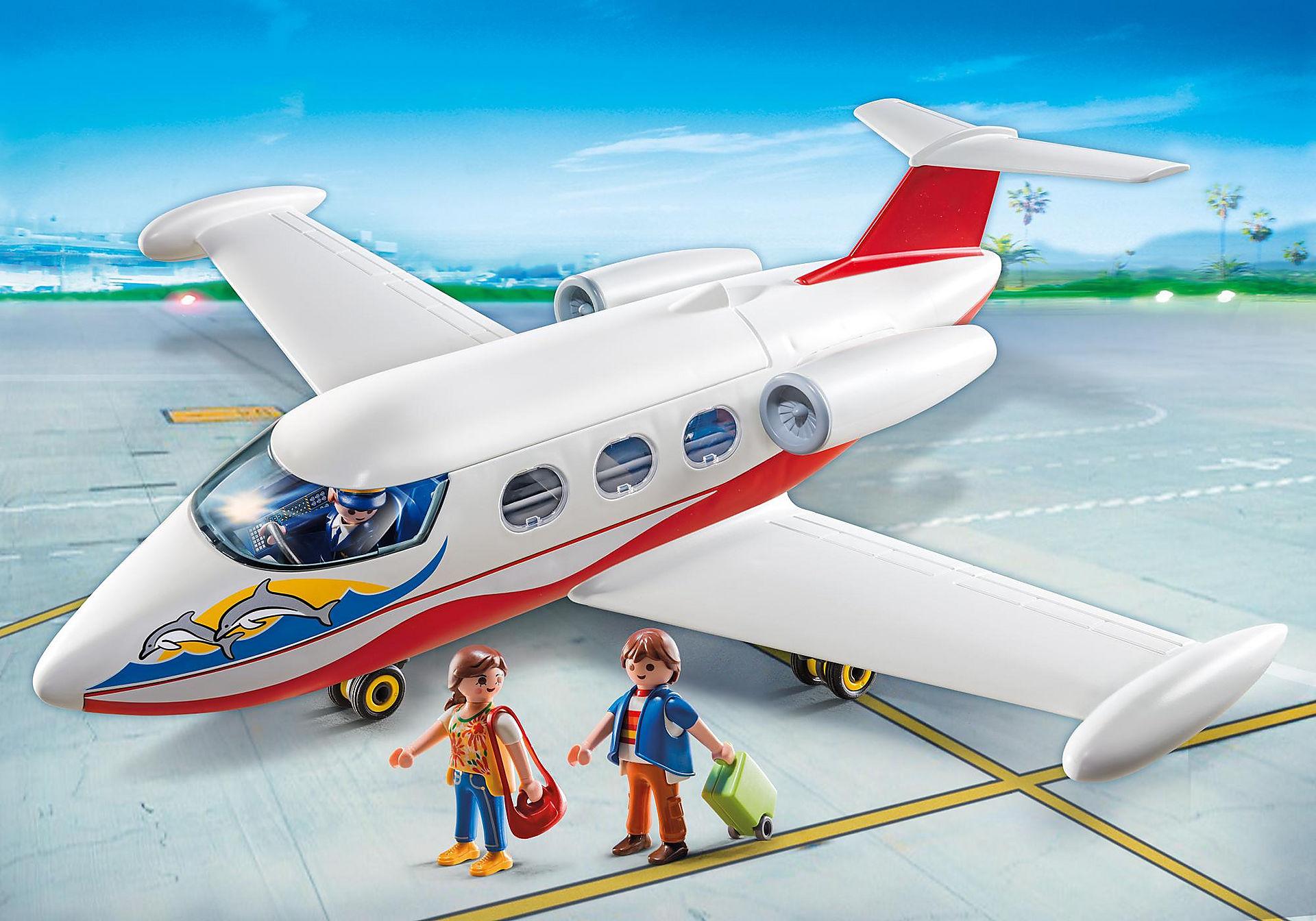 6081 Flygplan med pilot och turister zoom image1