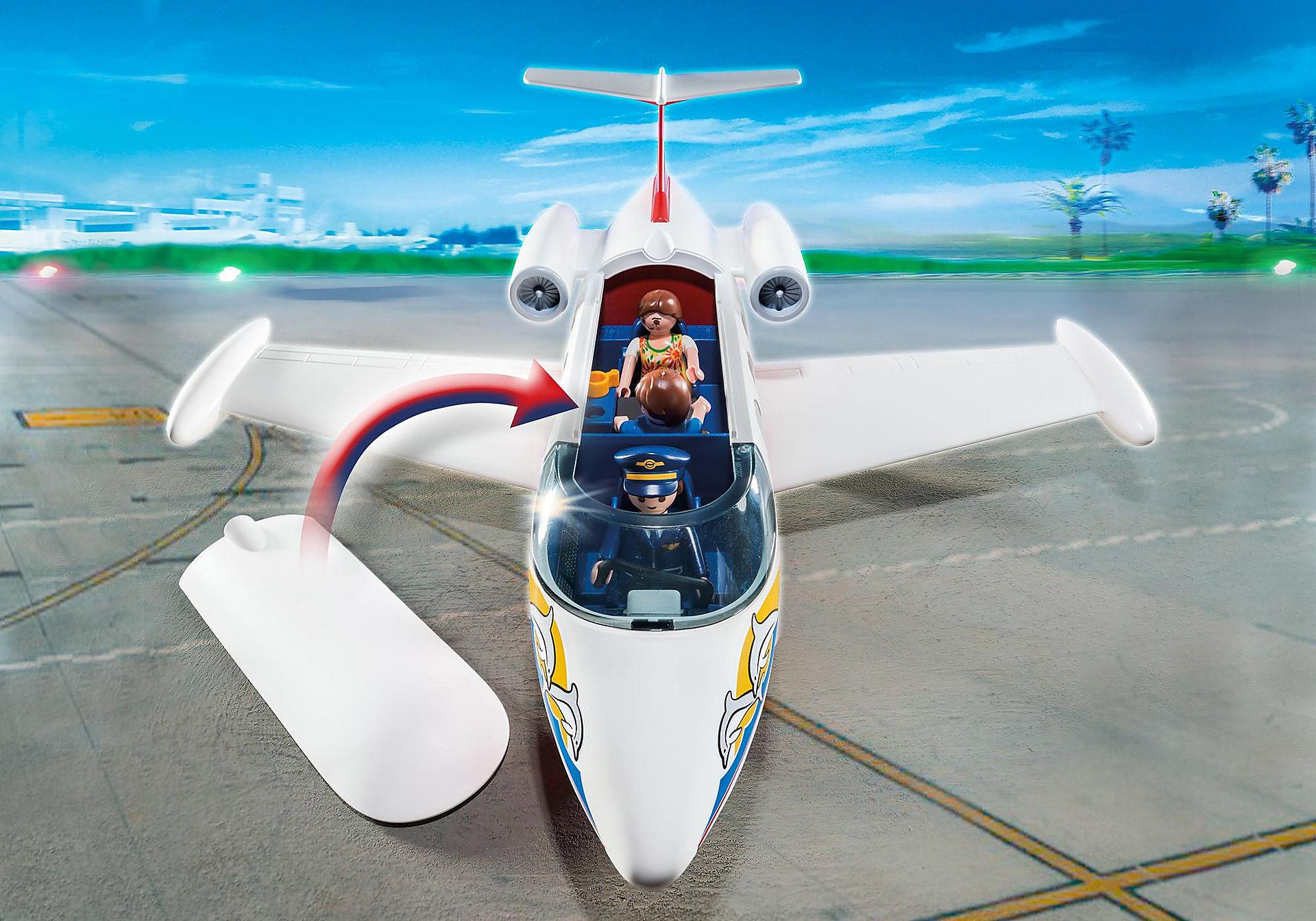 6081 Flygplan med pilot och turister zoom image4