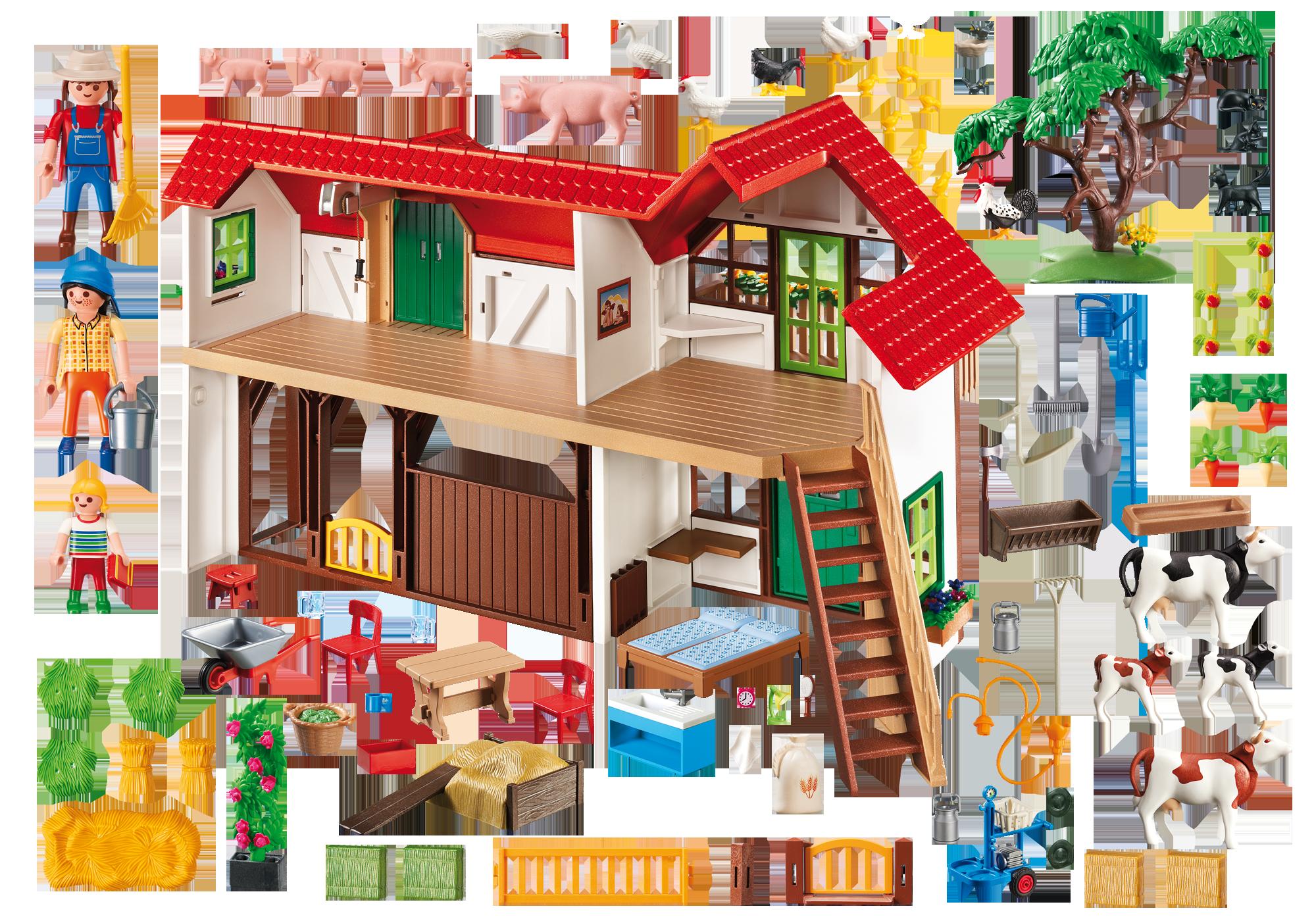 Large Farm - 6120 - PLAYMOBIL® United Kingdom for Farmhouse Playmobil  76uhy