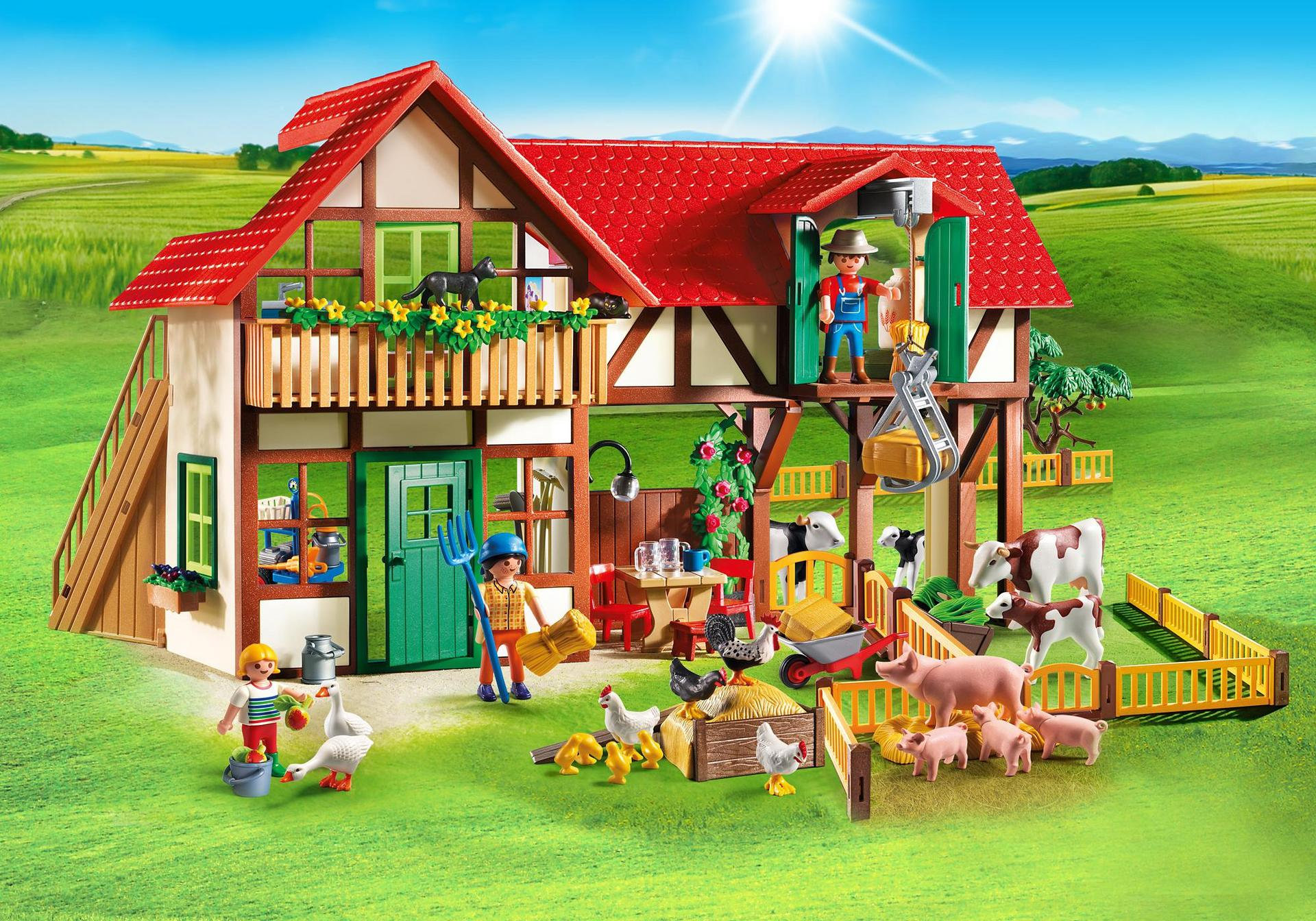 Large farm 6120 playmobil united kingdom for Photo maison playmobil