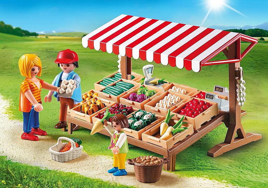 6121 Marchand avec étal de légumes  detail image 1